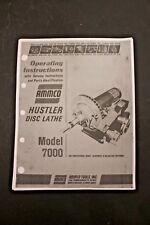 Ammco 7000 Hustler Disc Brake Lathe Operating Manual Amp Parts Identification