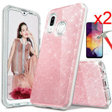 For Samsung Galaxy A20S A20 Case Glitter Bling Phone Cover HD Screen Protector