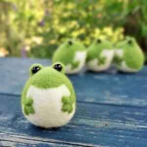 Non-Finished Felt Kit Frog Doll Wool Felt Poked Kitting DIY Felting Material_cd
