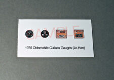 1975 OLDSMOBILE CUTLASS GAUGE FACES!! -for 1/25 scale JO-HAN KITS