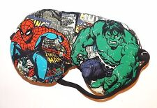 Sleep Mask - Spider man and The Hulk  - Comes As Shown - Fits Kids to Adults