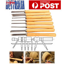 8X Lathe Wood Turning Chisels Woodturning Chisel Carving Woodworking Tools Set