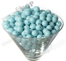 12mm - 50pcs Baby Blue Gumball Beads Bubble Gum Spacer Small Chunky US Seller