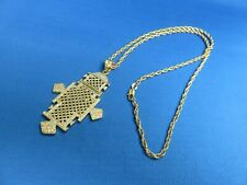 Orthodox Christian Coptic Cross F African Jewelry Gold Plated Ethiopian Style