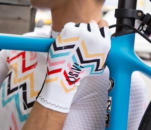Baisky cycling Half Finger TT Cycling Gloves-Trek White (H-10) XS-XL