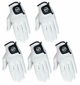 SG Men white golf gloves 100% Cabretta Leather golf gloves multi packs available