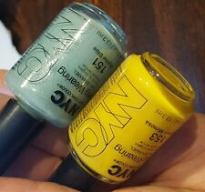 NEW! NYC Nail Polish LOT in SKYLINE BLUE & MIDTOWN MIMOSA