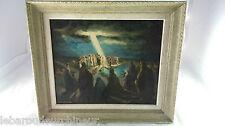 """Huile su toile """" scène religieuse """".Oil on canvas signed MAILLAUD... Fernand?"""