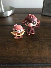 Littlest Pet Shop~#2670~Monkey~#2671~Baby~Brown~Diaper~Green Eyes~Sleigh~