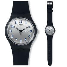 SWATCH SECRETO Servicio Reloj suob718 Análogo SILICONA NEGRO