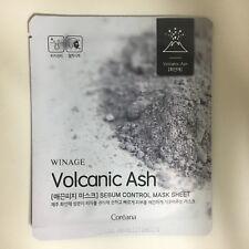 1SHEET COREANA WINAGE VOLCANIC ASH SEBUM CONTROL MASK SHEET