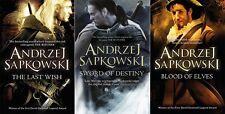 The Last Wish, Sword of Destiny & Blood of Elves by Andrzej Sapkowski - 3 Books