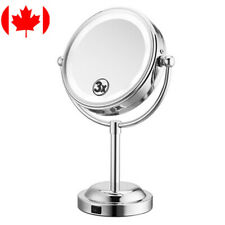 "LivingBasics® LED Lighted 6"" Makeup Mirror 3X Magnification-Battery/USB Power"