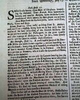 1668 Newspaper EARLY Rare 17th Century 349 Years Old LONDON GAZETTE England RARE
