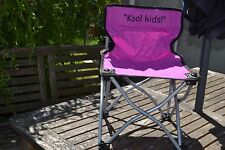 Foldable/ Portable Childs Garden Chair - Camping - Beach - Purple with Carry Bag
