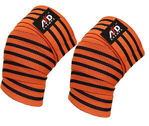 ARD Power Lifter Weight Lifting Knee Wraps Supports Gym Training Straps 9 colors