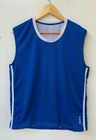 REEBOK vintage retro men's blue mesh tank singlet jersey top size M
