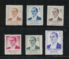 P064 Turkey 1961/2 Kemal Ataturk 6v. MVLH
