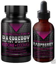 Absonutrix Raspberry Ketone Drops 4oz + Absonutrix Ketones 1000mg fat burner