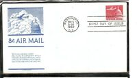 US SC # C64 Jet Airliner over Capitol FDC. Anderson Cachet