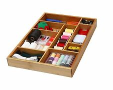 Bamboo Utility Drawer Organizer for Kitchen, Bathroom, Office and Cosmetics 337