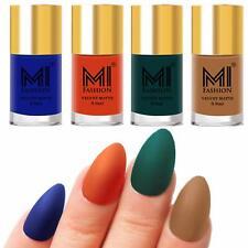 MI FASHION Nail PaintSet Royal Blue,Orange,Dark Green,Dark Nude Matte 9.9ml Each