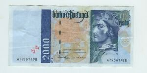 PORTUGAL -1997- 1X2000 ESCUDOS BANKNOTE BARTOLOMEU DIAS