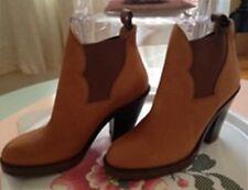 boots ACNE 41 cuir bottines leather  neuve bottines chestnut fauve marron
