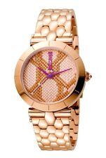 Just Cavalli Women's ANIMAL Devore Watch JC1L005M0085 Rose-Gold IP Bracelet