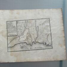 PLAN VILLE DE NICE 1667 GRAVURE ORIGINALE DU 17° SIECLE