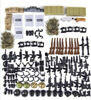 Army MiniFigure Weapons + Guns Military Gear Set Accessories Legos Com Weapons +