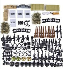 Army Minifigures Armor and Weapons Pack For LeGo Minifgures Gear WW2 Accessories