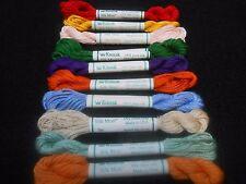 Kreinik Silk Mori  - Pack of 10 Skeins - 100% silk 5 metre