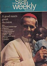 Star Weekly Moses Znaimer Cardinal Leger  December 9 1967