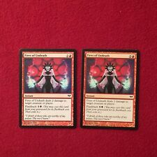 MTG X2 Fires of Undeath Dark Ascension Magic the Gathering Red Instant Cards