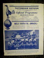 1958 FLOODLIGHT FRIENDLY MATCH:  TOTTENHAM HOTSPUR v BELA VISTA (BRAZIL)