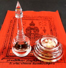SARIRA PEARLS ROSES/ PHRA TATH, THAD / THAT BUDDHA LARGE RELIC STUPA BRAIN RELIC