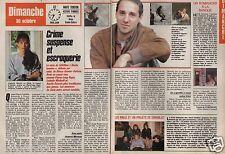 Coupure de presse Clipping 1988 Pierre Loup Rajot Ludmila Mickaël (2 pages)