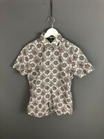 TED BAKER Short Sleeve Shirt - Size 2 Small - Paisley - Great Condition - Men's