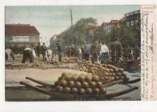 Alkmaar Kaasmarkt Netherlands Vintage Postcard 317a