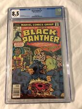 Black Panther #1 CGC 8.5 1977 White Pages Jack Kirby First Solo Series