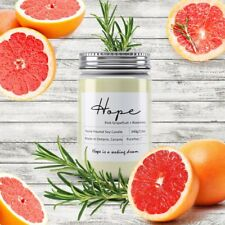 Hope Soy Wax Candle (Pinkgrapefruit + Rosemary)