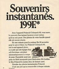 Publicité 1973  Appareil photo Polaroid Colorpack 80