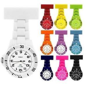 Prince London NY coloured rubberised plastic nurses fob watch brooch nurse