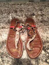 Pre Owned Sam Edelman GiGi Multicolor Ankle Strap Thong Sandals Size 8.5