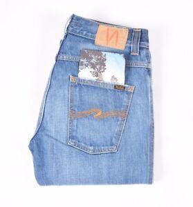 .29742 Nudie Jeans Slim Jim Used Electric Indigo blue Men Jeans in size 30/32