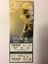 LOS ANGELES CHARGERS VS NEW ORLEANS SAINTS AUGUST 20, 2017 TICKET STUB