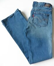 Women's LEVIS 518 bootcut jeans taille 10R Bleu W28 L32 SUPERLOW STRETCH (EUR 36R)