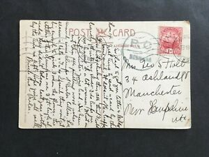 BERMUDA 1918 P.C RUBBER CENSORED LOCAL POSTCARD TO USA