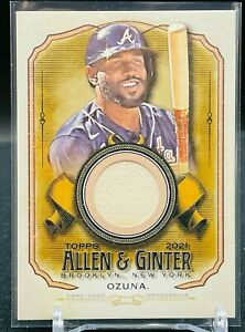 2021 Topps Allen Ginter Marcell Ozuna Game Used Bat Atlanta Braves